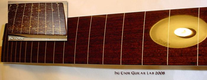 Construção de Contrabaixo NS Luthier Fretless Fretline%20repair